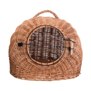 TRIXIE Плетеная сумка-переноска для кошек, коричневая коричневая, 50 см