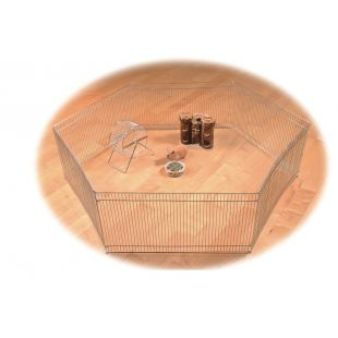 TRIXIE Забор для грызунов металлический, 6 частей, 48x25 см