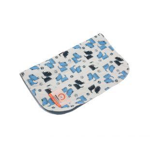 MISOKO&CO Многоразовая подстилка для собак 80x140 см, с голубыми щенками