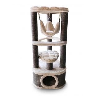 PETREBELS kriimustuspost kassidele 50x50x120 cm, kreem
