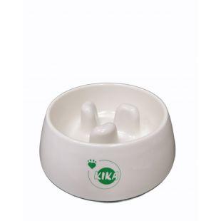KIKA Миска для медленного поедания для собак меламин, белая, размер M