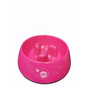 KIKA Миска для медленного поедания для собак меламин, розовая, размер M