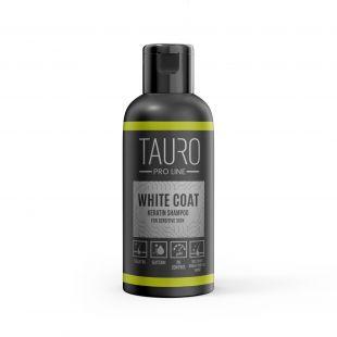 TAURO PRO LINE White Coat Keratin Shampoo, šampoon koertele ja kassidele 50 ml