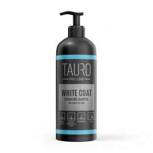 TAURO PRO LINE White Coat hydrating Shampoo, šampoon koertele ja kassidele 1 l