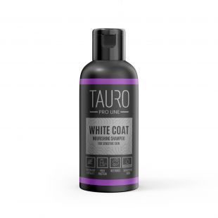 TAURO PRO LINE White Coat Nourishing Shampoo, šampoon koertele ja kassidele 50 ml