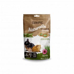 CUNIPIC Naturaliss Immunity закуска для грызунов с зеленью, 50 г