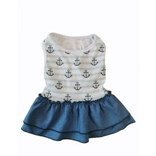 PAW COUTURE Платье для собак синее, S