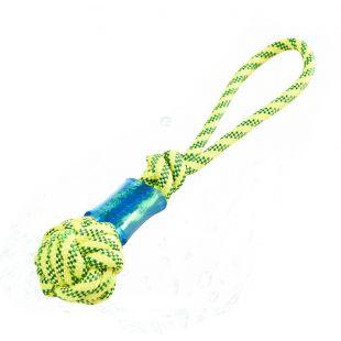 MISOKO&CO Плавающая игрушка-веревка для собак, с мячом желтая, 41 см