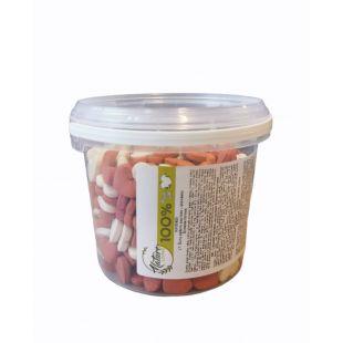 NATURE LIVING Küpsised koertele, maasika maitsega, südamed 400 g