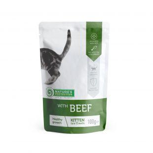 NATURE'S PROTECTION Healthy growth Kitten With beef, pakikonservid veiselihaga kassipoegade 100 g x 22