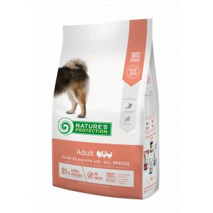 NATURE'S PROTECTION Kuivtoit koertele All breeds Adult From 12 months old Poultry 12 kg x 3