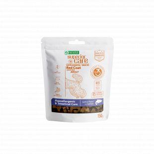 NATURE'S PROTECTION SUPERIOR CARE Red Coat Hypoallergenic &  Intestinal Care Grain free Salmon täiendav toit-maiused lõhega täiskasvanud koertele punase karvkattega 150 g