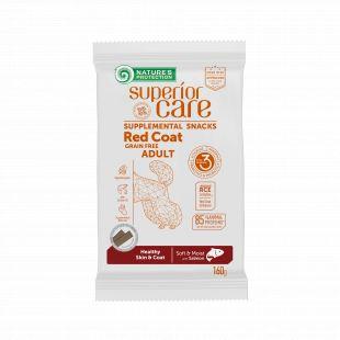 NATURE'S PROTECTION SUPERIOR CARE Red Coat Healthy Skin & Coat Grain free Salmon täiendav toit-maiused lõhega täiskasvanud koertele punase karvkattega 160 g