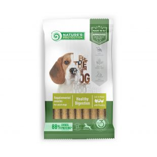 NATURE'S PROTECTION Poultry Healthy Digestion дополнительный корм-лакомство из птицы для взрослых собак 110 g
