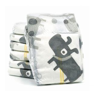 MISOKO&CO Одноразовые подгузники для сук с изображением щенков, углем, индикатором влажности, ароматом лаванды, размер XS, 12 шт. x 4