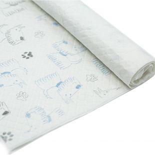 MISOKO&CO ühekordsed loomalapid koera käpa mustriga, sidruni lõhnaga, 45 x 60 cm, 1 tk. x 100