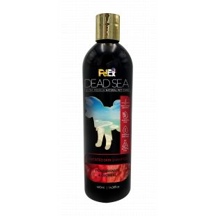 """PETEX DEAD SEA Oatmeal & Pomegranate Shampoo taastav Õampoon koertele ja kassidele, hooldab """"rritunud nahka, 400 ml"""