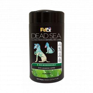 PETEX DEAD SEA Eye Cleansing Wipes ALOE-VERA Гигиенические салфетки для собак и кошек, для очистки области глаз, 100 шт.