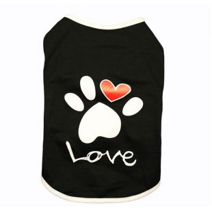 PAW COUTURE футболка для собак размер L, чёрная