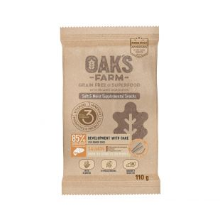 "OAK'S FARM ""OAK'S FARM Development with Care with Salmon up to 12 months All breeds пищевая добавка-лакомство с лососем для молодых собак "" 110 гр"