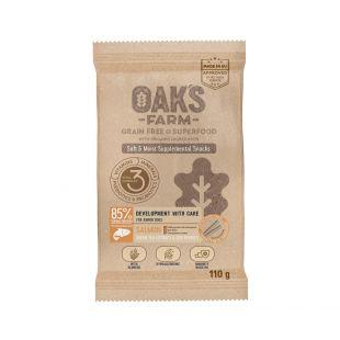 OAK'S FARM OAK'S FARM Development with Care with Salmon up to 12 months All breeds toidulisand-maius lõhega noortele koertele 110 g