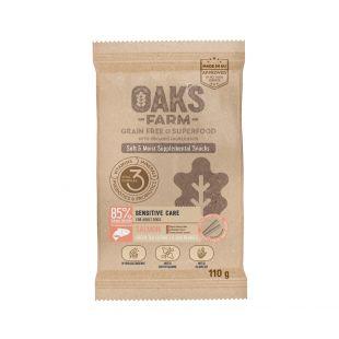 OAK'S FARM OAK'S FARM Sensitive Care with Salmon Adult All breeds toidulisand-maius lõhega täiskasvanud koertele 110 g