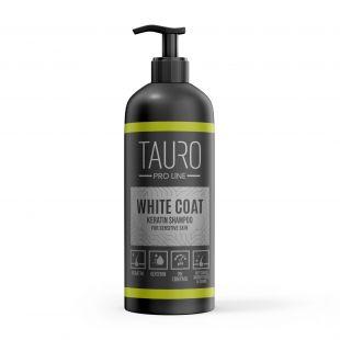 TAURO PRO LINE White Coat Keratin Shampoo šampoon koertele ja kassidele 1000 ml