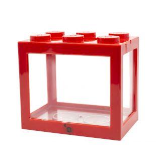 KIKA klotsikujuline akvaarium 16x10.5x14cm, punane