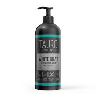 TAURO PRO LINE White Coat glossy conditioner бальзам для собак и кошек 1000 мл